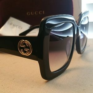 Authentic Large Gucci Sunglass model # GG0053S